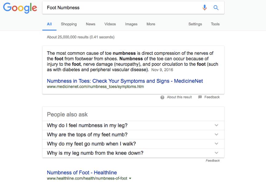 Foot Numbness